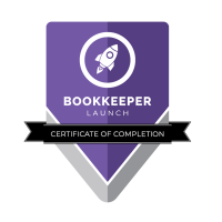 Mrs. Bookkeeper Bookkeeper Launcher Certificate of Completion
